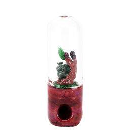 "Empire Glassworks UV Reactive Dry Pipe   4.5""   Save The Koalas - #9929"