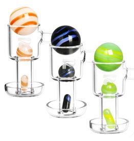 Pulsar Terp Slurper Pill & Marble Set   3pc   Colors Vary - #0095