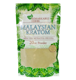 Remarkable Herbs Remarkable Herbs Kratom – Mitragyna Speciosa – Powder 20oz - Malaysian