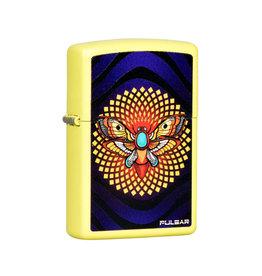 Zippo Zippo Lighter   Pulsar Psychedelic Moth   Lemon