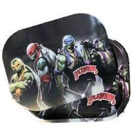 """Backwoods Ninja Turtles X Backwoods Metal Tray W / Lid 11"""" x 7"""""""