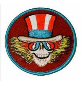 "3"" Round Grateful Dead Uncle Sam Skeleton Patch - #0728"
