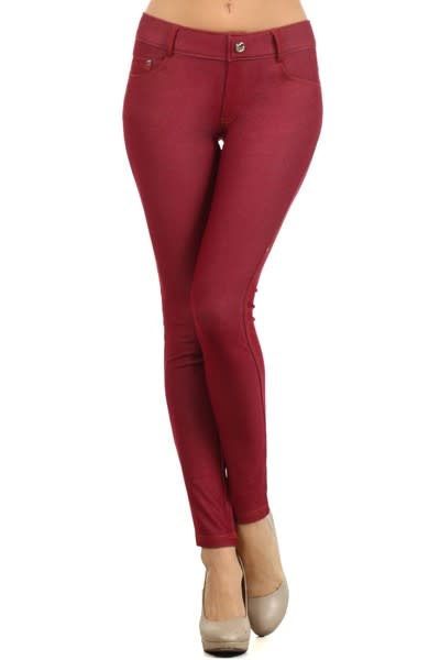 Cotton-Blend 5-Pocket Skinny Jeggings