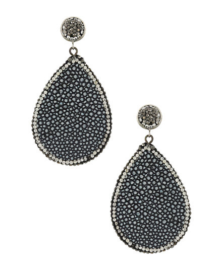 EARRING SET - HEMATITE/BLACK
