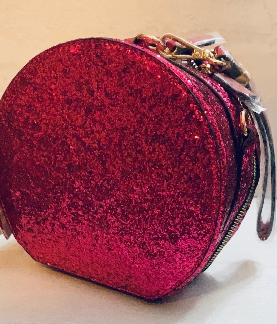 Glitter Handbag Round wristlet or crossbody