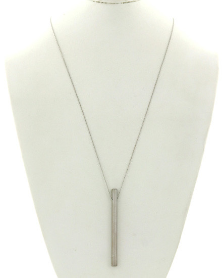 Metal / Pendant / Silver Tone / Long Necklace