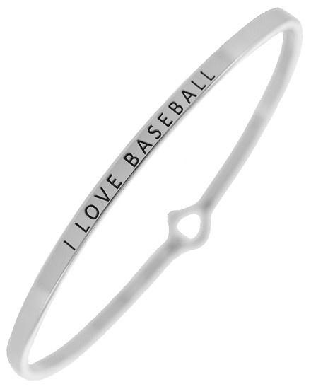 I LOVE BASEBALL - SILVER