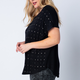 Loose Short Sleeve Top with Studs