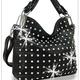 Rhinestone Covered Embossed Handbag