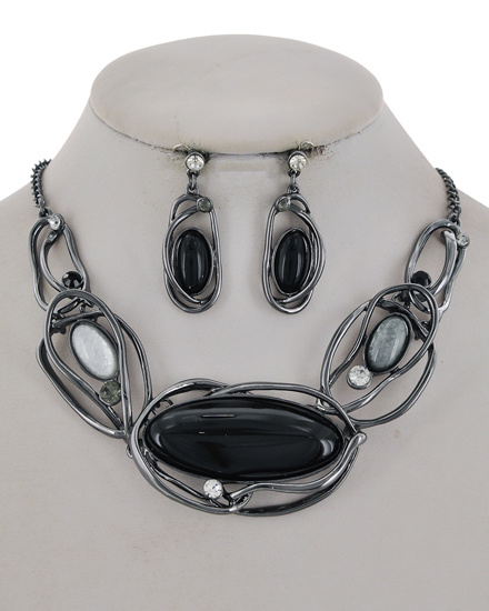 Statement Necklace & Earring Set 883