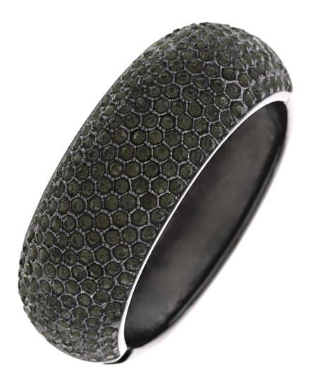 Metal / Rhinestone / Cuff / Black / Bracelet