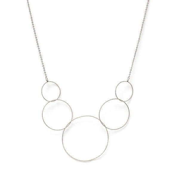 Graduating Delicate Circles, Bib Style, Silver
