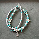 Ocean Breeze - Beaded Turquoise Anklets - Anchor