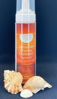 Jamaican Bronze Sunless Tanner Nay Nays Jamaican Bronze Sunless Tanner with applicator mitt