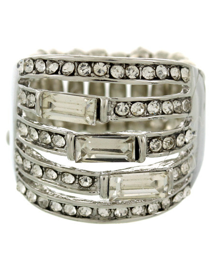 RING - SILVER/CLEAR