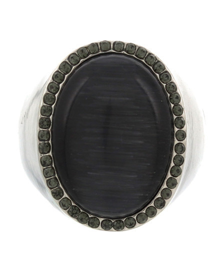 RING - SILVER/BLACK