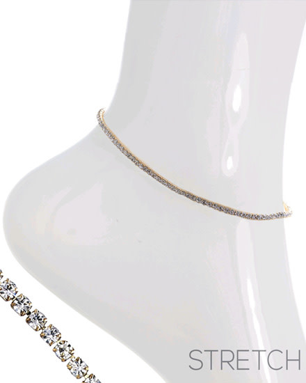 ANKLET - GOLD/CLEAR