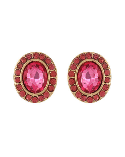 EARRING SET - GOLD/PINK