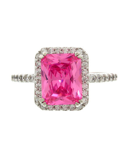 RING - SILVER/PINK