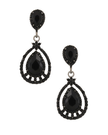 EARRING SET - BLACK