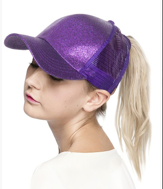 Glitter Ponytail Cap
