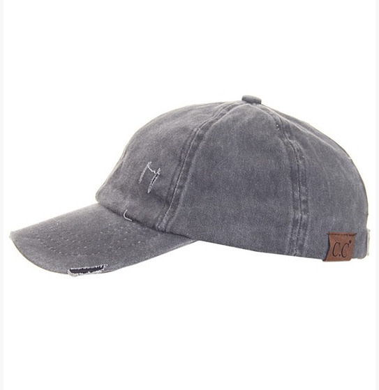 Ladder Pony Cap Denim