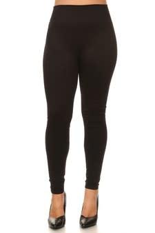 Mid Waist Leggings Plus Black