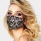 Leopard Pattern Sequin Fashion Mask
