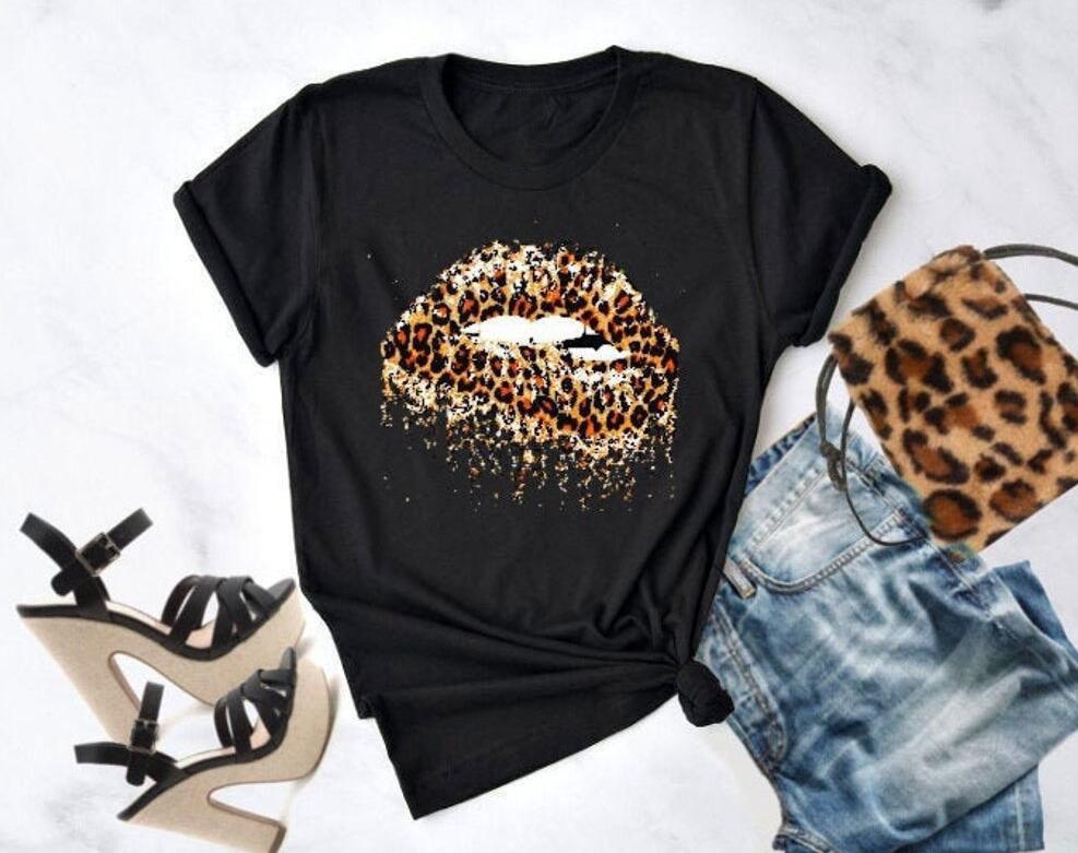 Leopard Lip T
