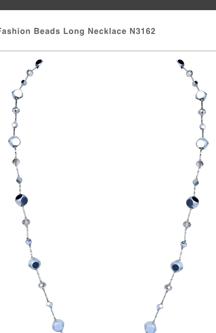 Silver Cube Long Necklace