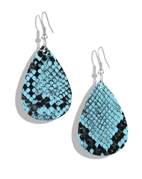 Snake Skin Blue Earrings