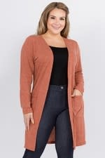Long Sleeve Knit Cardigan w Pockets