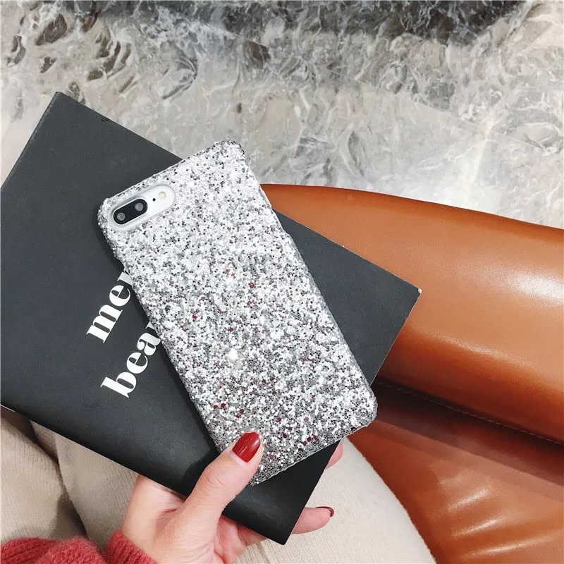 Hot Matte Glitter Plastic Sequin Phone Case for iPhone