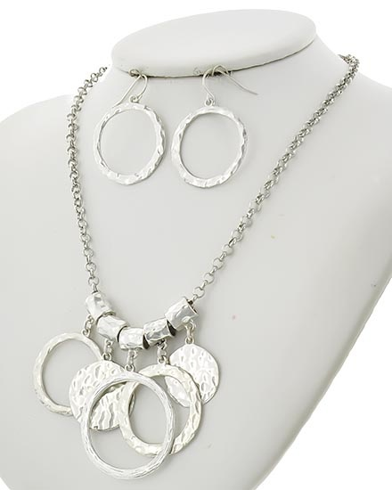 NECKLACE & EARRING SET - A.SILVER