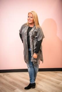 Bling Trimmed Kimono Grey