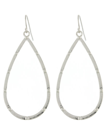 EARRING SET - WORN SILVER PLATED 587888