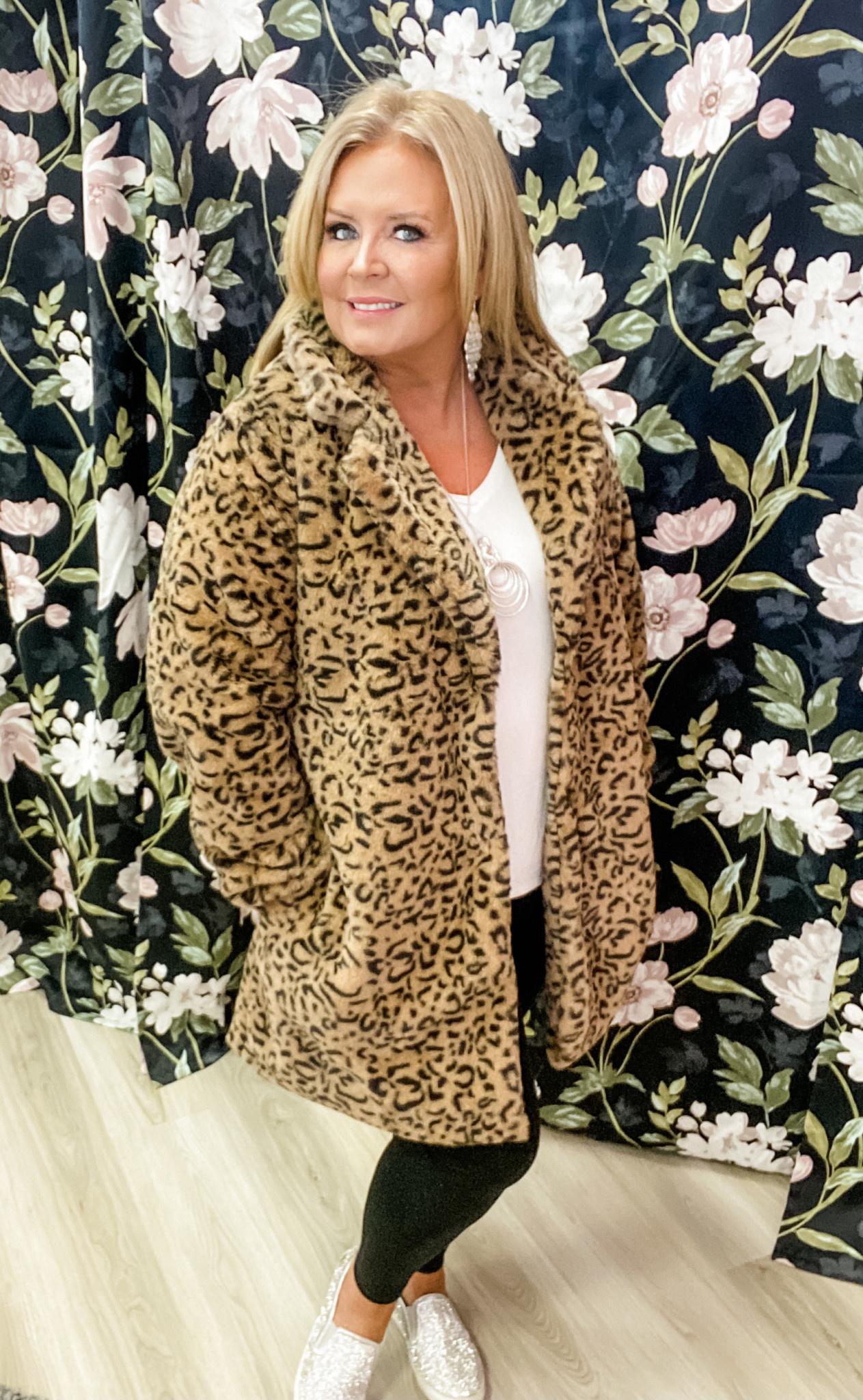 Fancy Girl Faux Fur Coat