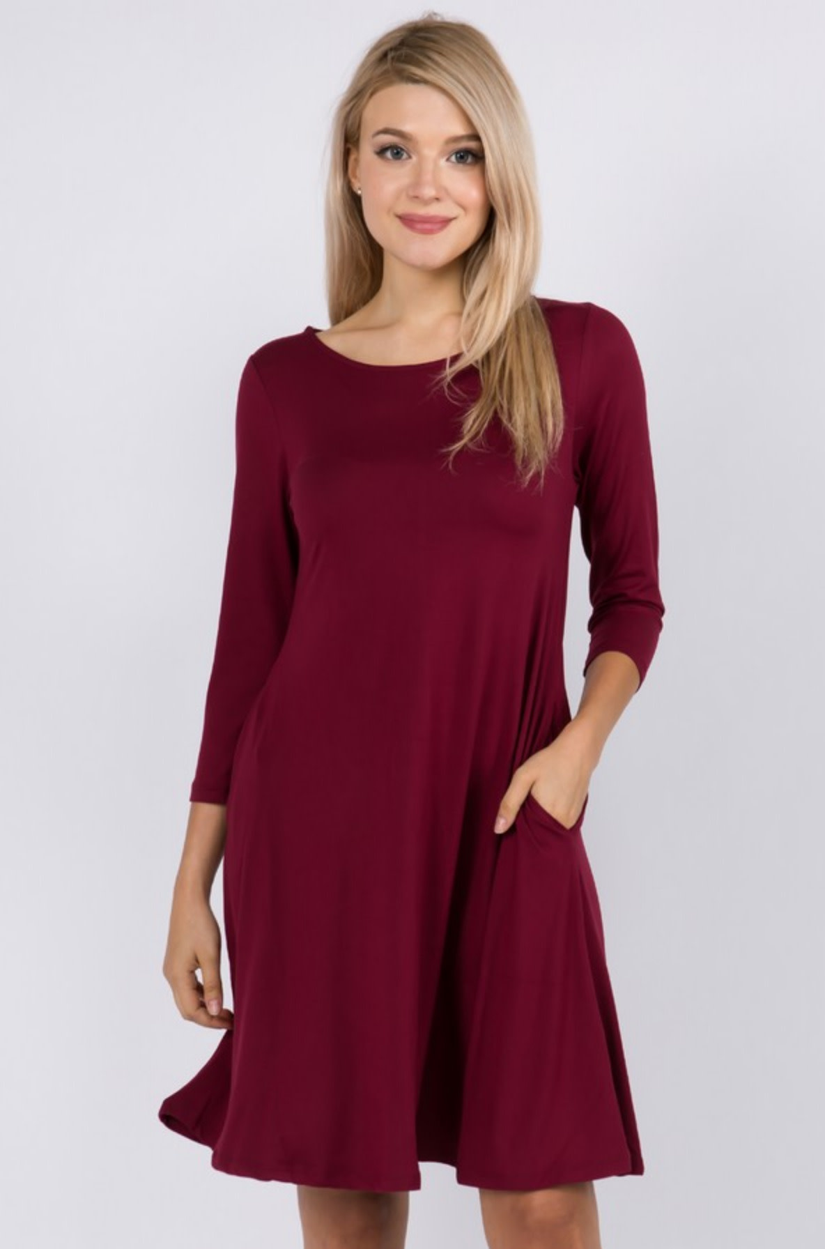 Wine and chill swing dress