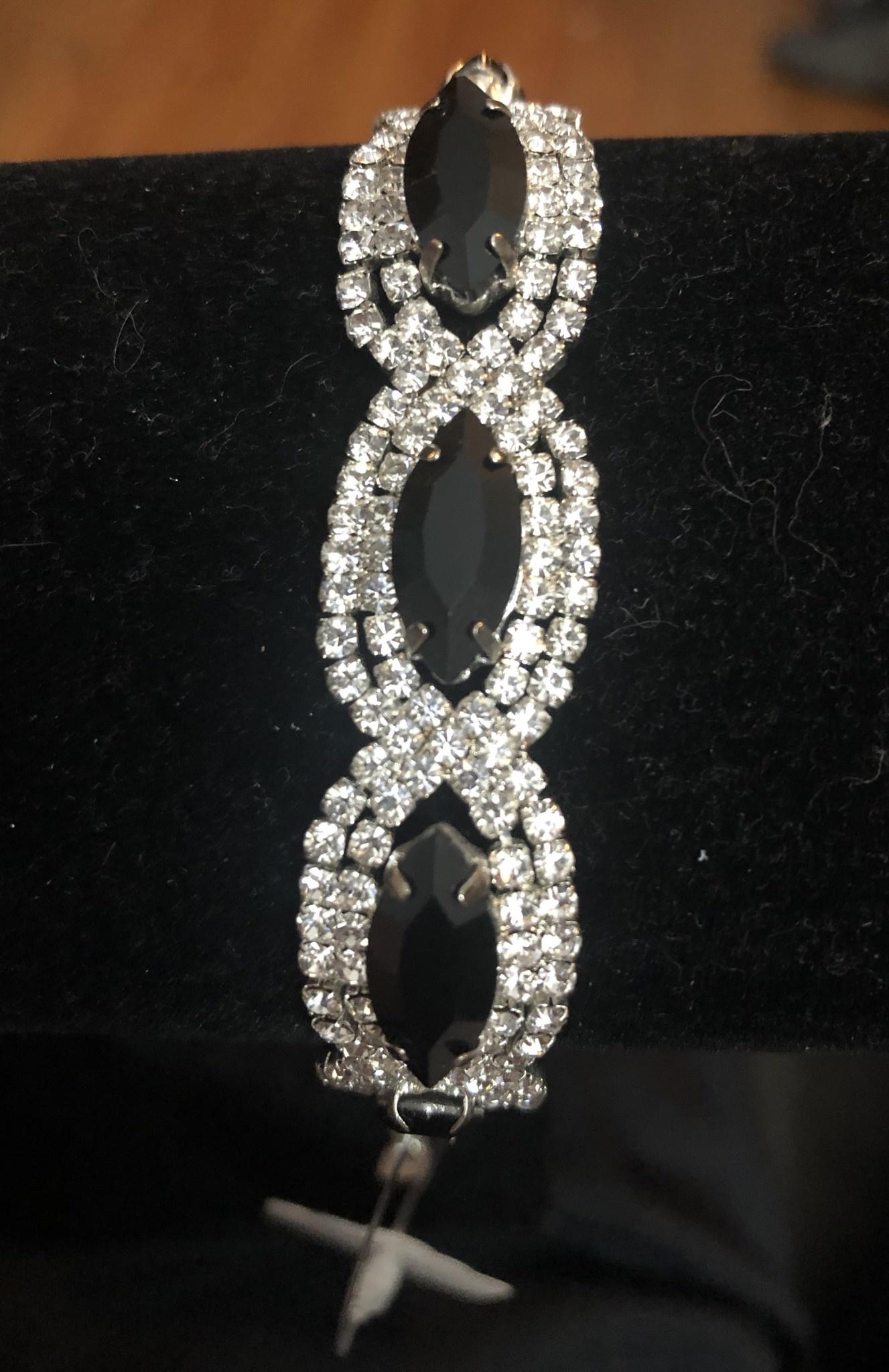 Black & Silver Thin Bracelet