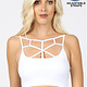 Seamless web detail front bralette with bra pads