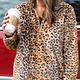 Leopard Goddess Faux Fur Pullover