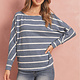 Dolman Stripe Round Neck Top
