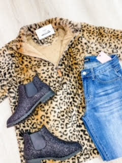 Leopard Goddess Faux Fur Pullover