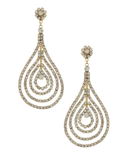 EARRING SET - GOLD/CLEAR - 582099