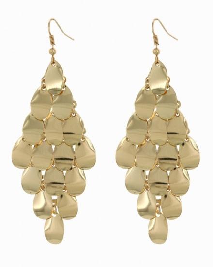 CHANDELIER EARRING SET - GOLD - 590601