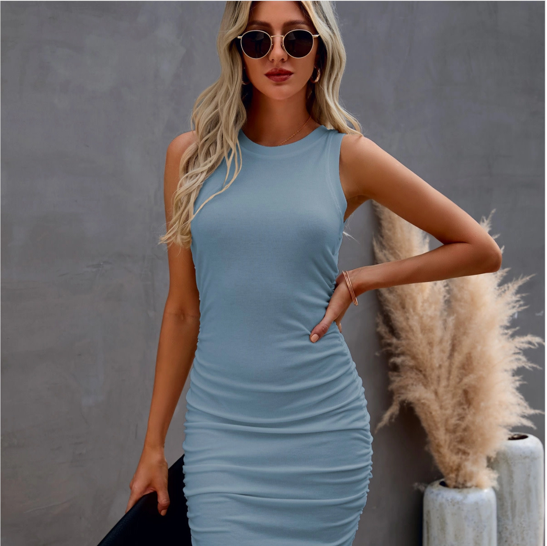 Sleeveless Ruched Dress