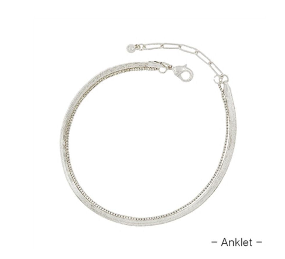 SNAKE CHAIN ANKLET QA1019