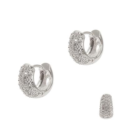 Silver Huggie Earrings PE2200