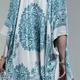 Teal Mandala Kimono