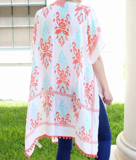 Orlando Park Printed Kimono